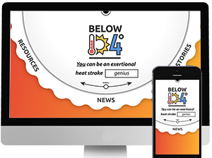 Below 104 Website Mockup